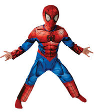 Costume Spiderman Marvel Con Muscoli Vestito Carnevale bambino