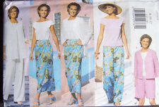 misses 8-12 summer tropical style wardrobe pattern SKIRT JACKET SHORTS PANTS TOP