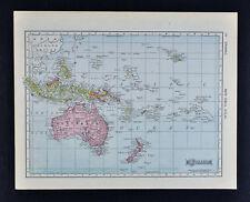 1911 McNally Map - Oceania - Australia New Zealand Malaysia Borneo East Indies