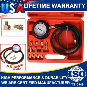 Auto Engine Oil Pressure Tester Gauge Diagnostic Test TU-11A Service Kit 500 PSI