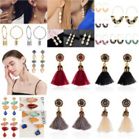 Women Earring Alloy Tassel Shell Crystal  Pendant Dangle Drop Earrings Jewellery