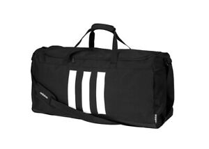 adidas 3 Stripes Duffle Bag XS Team Bag Black Outdoor Fitness Soccer NWT GE1238