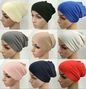 Wholesale Cotton Tube Underscarf Cap NEW Hijab Muslim Shayla Inner Turban Bonnet