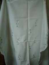 Afternoon Tea Table Cloth  Embroidered  Flowers