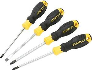 Stanley Essential Screwdriver Set, 4 Piece SL/PZ…