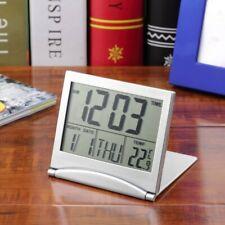 Calendar Alarm Clock Display date time temperature flexible mini Desk LCD Thermo
