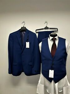 TED BAKER LONDON NAVY SUIT 3PC SIZE 40R TRS 34X32 BNWT