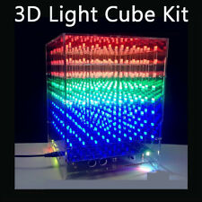 Wifi 3D LED Light Cube DIY Kit 8x8x8 Music Spectrum PCB Board RGB PWM Light Mode