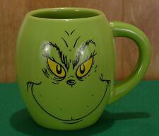 Dr. Seuss Enterprises Green Grinch Face Mug w/ Max Cindy Lou Coffee Cup 16oz
