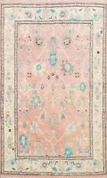 Vegetable Dye Authentic Oushak Hand-knotted Turkish Oriental Area Rug WOOL 5'x6'