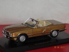 Mercedes 300 SL R107 1986 gold met. 1:18 Norev 183514 neu & OVP