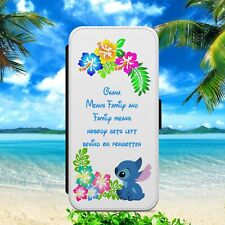 DISNEY TROPICAL OHANA STITCH FLIP WALLET PHONE CASE FOR IPHONE SAMSUNG HUAWEI