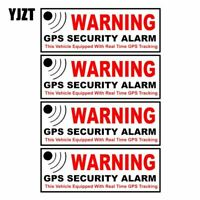 10.5CM*3.8CM 4X Car Sticker WARNING GPS SECURITY ALARM Warning Mark Reflect