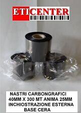 RIBBON NASTRI CARBONGRAFICI 40X300 OUT WAX CERA PREMIUM INTERMEC ZEBRA TSC