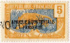 "MOYEN CONGO - ca.1924 griffe ""PAQUEBOT"" sur Yv.75/Mi.28 5c Panther - TB"