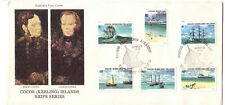 1976 FDC Cocos (Keeling) Islands. Ship Series. Ship Pictorial PMK