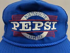 Vintage Pepsi Bottling Trucker Hat Portsmouth Ohio 80s Advertising Snapback Blue