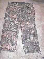 Mens 2X Gortex Pants Camo Hunting Pants Waterproof Mossy Oak Camo Rain Pants 190