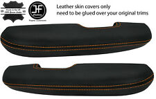 ORANGE STITCH 2X DOOR HANDLE ARMREST LEATHER COVERS FITS FORD MUSTANG 1967-1968