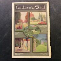 Vintage Book Print - Gardens of the World - 1936