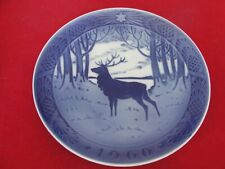 1960 ROYAL COPENHAGEN CHRISTMAS  OLD PLATE STAG DEER