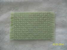 "Doll House Handmade Needlepoint Mint Green Rug 3"" x 5"" 100% Wool"