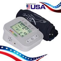 Automatic Digital Upper Arm Blood Pressure Monitor LCD Screen Heart Rate Beat US