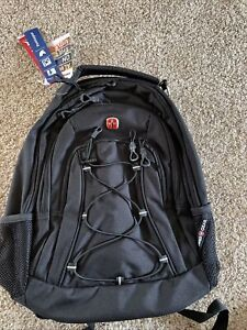 NWT SWISS GEAR 1186 BLACK Bungee Backpack College Fits 13 Inch Laptop ORIGINAL