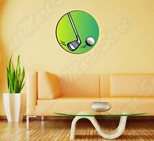 "Golf Play Club Ball Course Green Grass Wall Sticker Room Interior Decor 22""X22"""