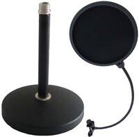 keepdrum MS032 Mikrofon Tischstativ + keepdrum Popschutz