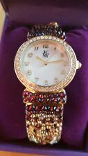 Reloj Jimmy Crystal Princesa gold con Swarovski para mujer y estuche