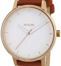 NEW Nixon Ladies The Kensington Rose Gold Leather Watch A108-2045 DAMAGED BOX
