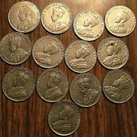 SET OF GEORGE V NICKEL 5 CENTS COIN - All years except keydates 1925 1926