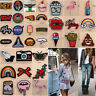 Sew Iron On Patch Cloth Bag Embroidery Applique Stickers Fabric Badges Patches