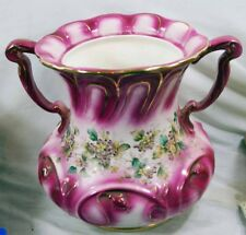 Antique Very Large Haynes Ware - Baltimore, MD Urn White, Pink, Gold Trim