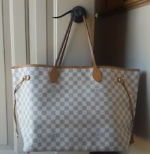 Authentic Louis Vuitton Azur Neverfull GM Tote Handbag Purse - Nice Pre-Loved