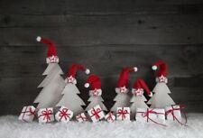 Christmas Hat Gift Box Photography Backdrop Vinyl 7x5Ft Background Studio Props
