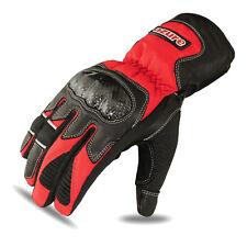 Rojo Moto Invierno Guantes De Cuero De Vaca guantes de motocicleta Biker Wear 1352 Xl