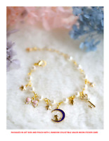 Sailor Moon 20th Anniversary Pearl Lolita Star Luna Bracelet w/Gift Box A Beauty