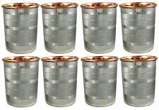 Set of 8 Drink ware Accessories Pure Copper Stainless Steel Glass Cup 9 Oz