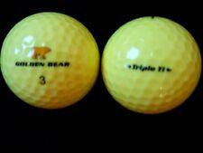 "20 NICKLAUS  ""GOLDEN BEAR"" - ""YELLOW"" TRIPLE TITANIUM - Golf Balls - ""PEARL""."
