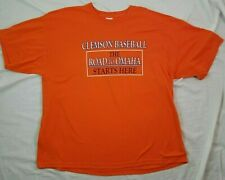 Clemson TIgers Baseball T Shirt XL Rosenblatt Stadium Road To Omaha Final