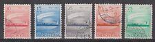 Indonesia Indonesie 195 - 199 used gebruikt 1957 100 jarig bestaan Telegrafie