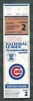 1984 NLCS playoffs ticket stub Chicago Cubs v San Diego Padres Game 2 Wrigley