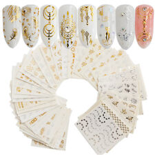 30pcs/set Gold Silver Nail Stickers Water Transfer Decal For Nail Art Decoration