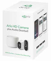 NEW Netgear Arlo 720p HD Smart Home Security Camera System with Audio Doorbell