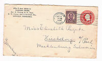 USA Ganzsachen Umschlag 2 Cents + ZuF 3 Cents 1929 nach Deutschland  (A4/26)