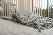 LUXURY WAFFLE WEAVE BLANKET/THROW - QUEEN SIZE-SUPER SALE PLUS FREE POSTAGE!
