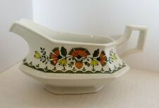 Johnson Brothers CREAMER/PITCHER white w/orange, yellow, green MADE IN ENGLAND