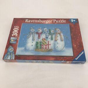 "Ravensburger 300 XXL Piece Premium Jigsaw Puzzle The Snowman Family 19x14"" New"